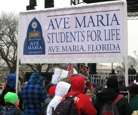 Ave Maria Students for Life banner