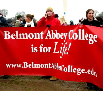 Belmont Abbey College is for <em>Life!</em>