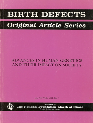 Cover of <em>Birth Defects</em> issue