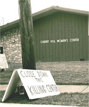 Sign in front of an abortion clinic: 'Close Down This Killing Center'
