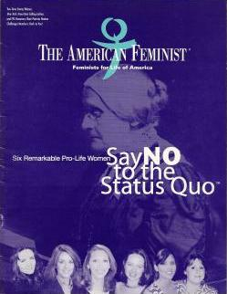 Cover of <em>The American Feminist</em> magazine with a feature on 'Say <strong>NO</strong> to the status quo'