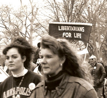 Banner of 'Libertarians for Life' at the March for Life