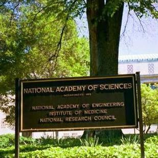 National Academy of Sciences sign, Washington, D.C.