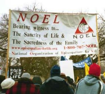 Banner of NOEL, which is now Anglicans for Life