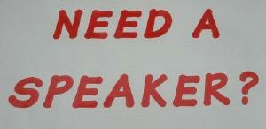 Sign: Need a Speaker?